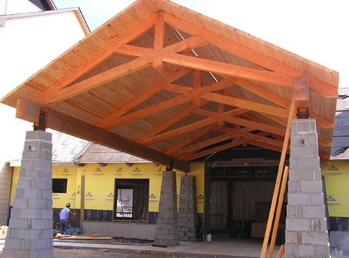 Custom heavy timber design build company dedicated to the for Custom roof trusses