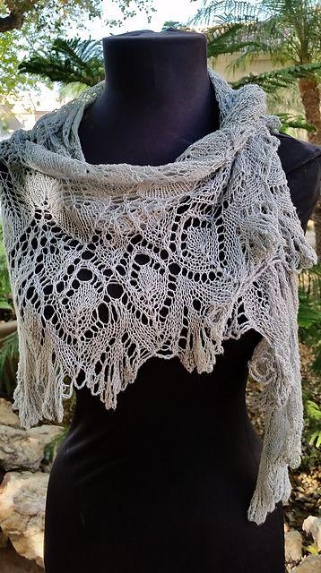 Grace Leaf Lace Shawl pattern by Velvet Dishon | Shawl patterns ...