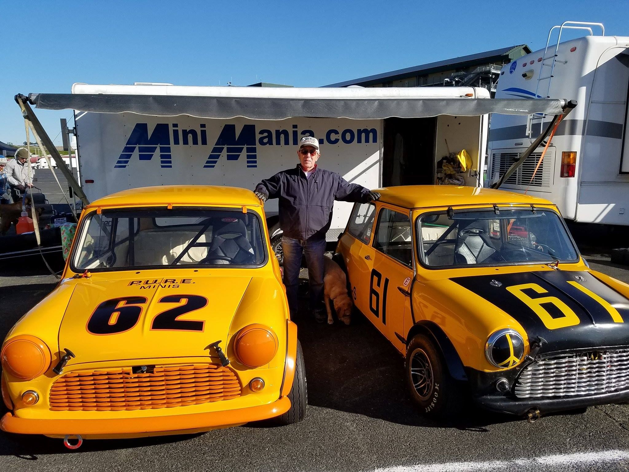 Don Racine, Founder of Mini Mania, with his Minis!