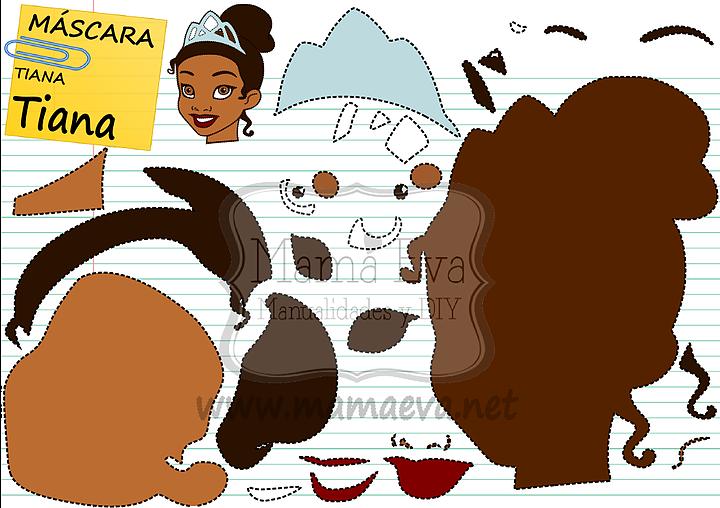 Descarga gratis nuestras plantillas para goma eva y fieltro de tus personajes favoritos: Tiana, Naveen...