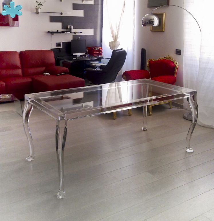 modello 800 tavolo trasparente acrylic diningtable