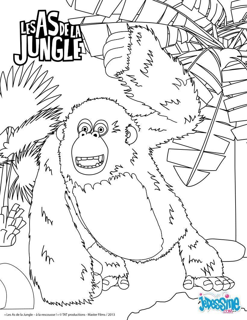 Miguel Les As De La Jungle : miguel, jungle, Impression, Miguel, Gorille, Coloriage, Dessin, Animé,, Coloriage,, Imprimer, Gratuit