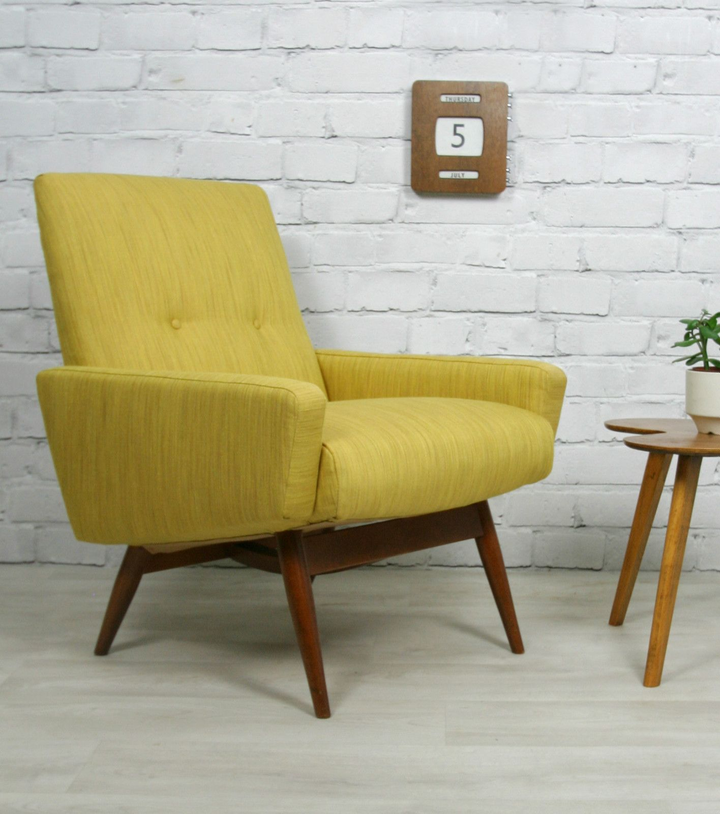 modern eames herman products fifties lemon chair miller yellow