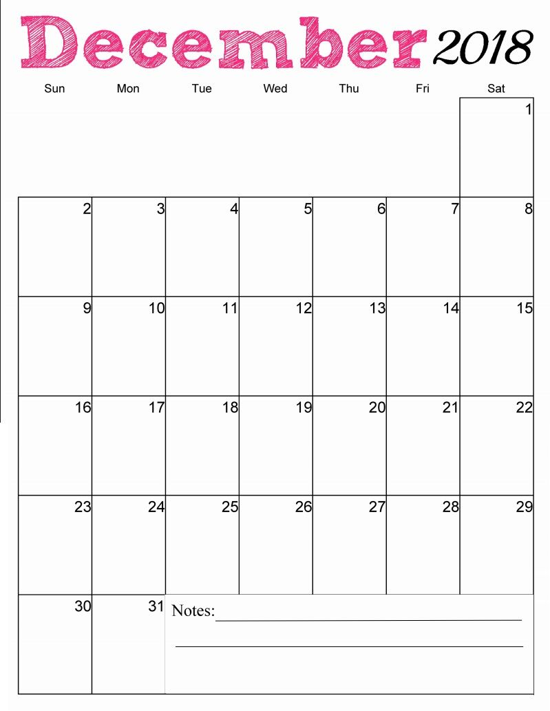 picture regarding Printable December Calendar identified as Free of charge Printable December 2018 Vertical Calendar merely things