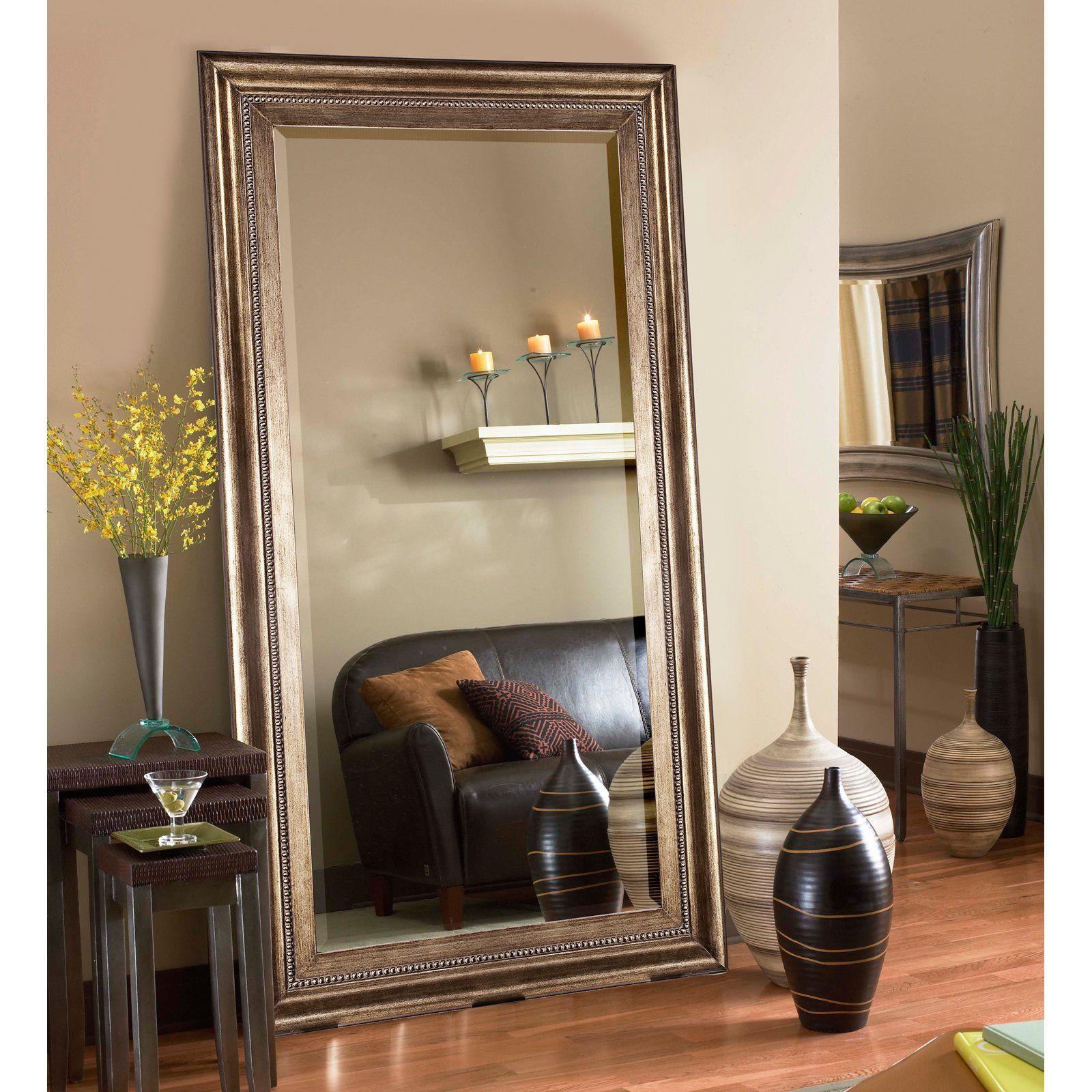 Elizabeth Austin Marla Oversized Mirror 43w X 81h In Floor Mirror Living Room Mirror Decor Living Room Living Room Mirrors #standing #vase #for #living #room
