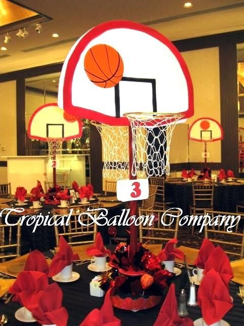 Two Sided Basketball Centerpieces Events Pinterest