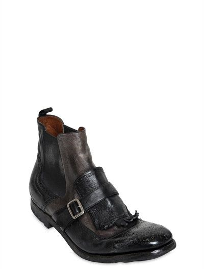 Church's SHANGHAI 6 GLACE VINTAGE LEATHER BOOTS itlSgz