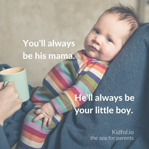 You'll always be his mama, he'll always be your little boy! Love our sons forever and ever! #quotesaboutlittleboys