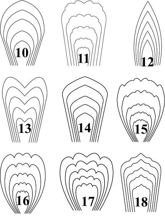ALLE Blumen-PDF-Vorlagen KOSTENLOS 3 BLATT-SCHABLONE Handgefertigte Artikel Sofortige digitale … - Dekoration Selber Machen #giantpaperflowers