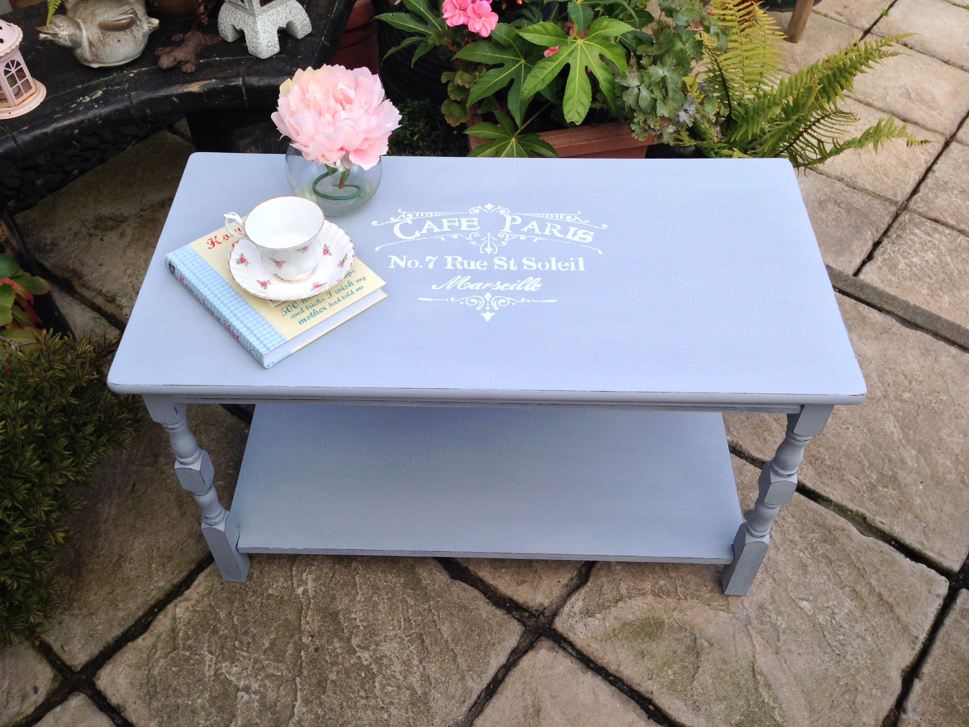 Grey shabby chic distressed coffee table distressed
