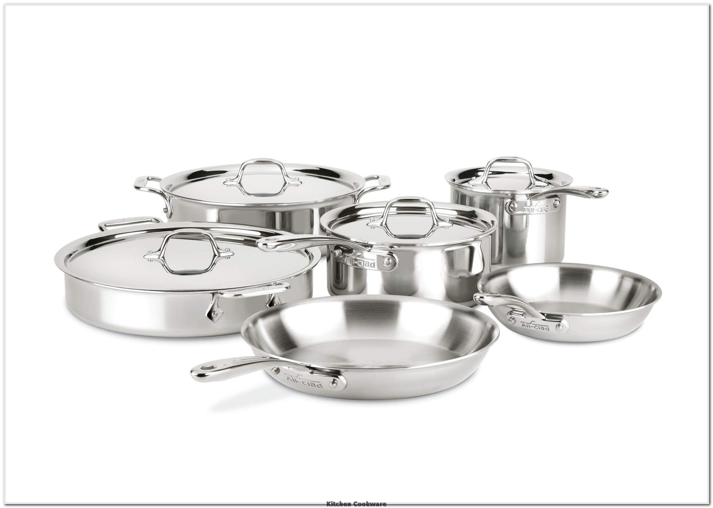 All Clad St40010 D3 Compact Stainless Steel Dishwasher Safe Cookware Set 10 Piece Silver Lea In 2020 With Images Stainless Dishwasher Ceramic Cookware Dishwasher Safe Cookware