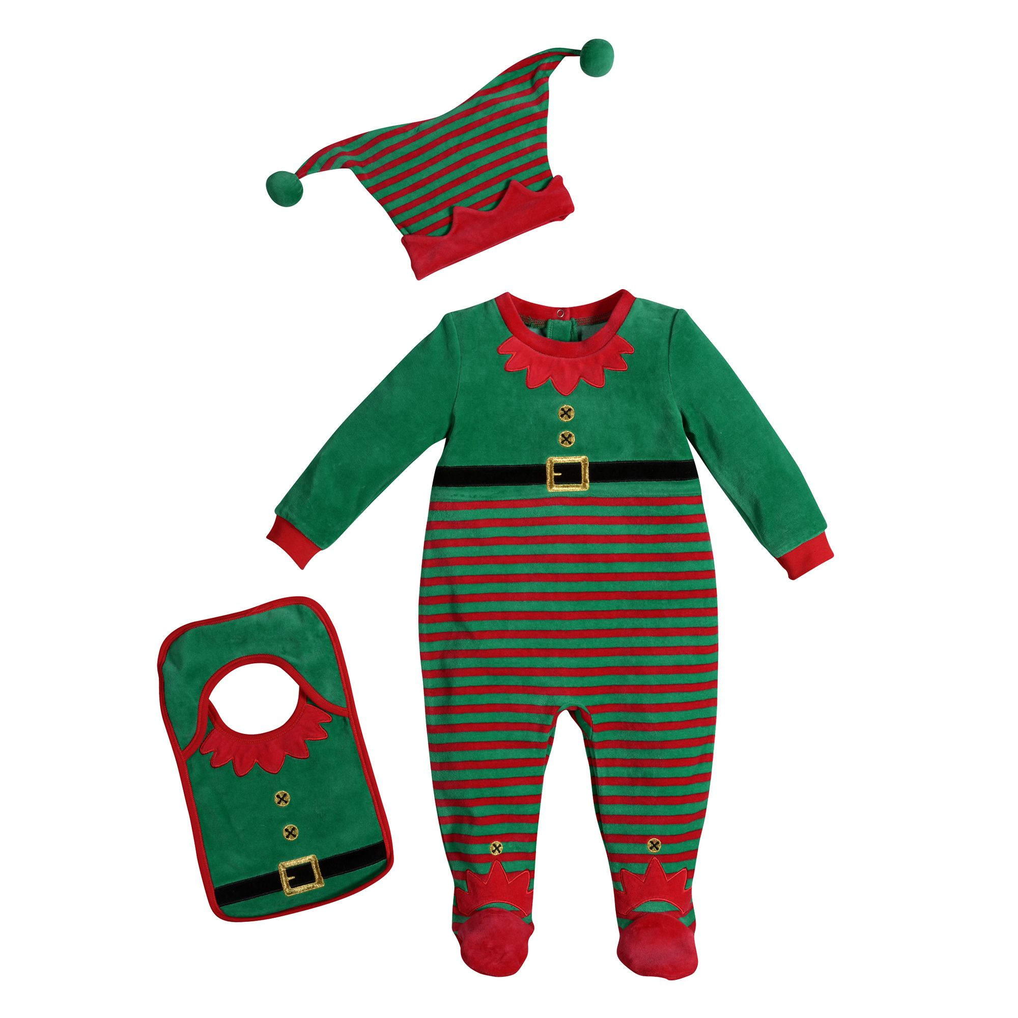 853e1e754e38 offer discounts 3c24f b3b0d new baby s christmas elf sleeper pajamas ...