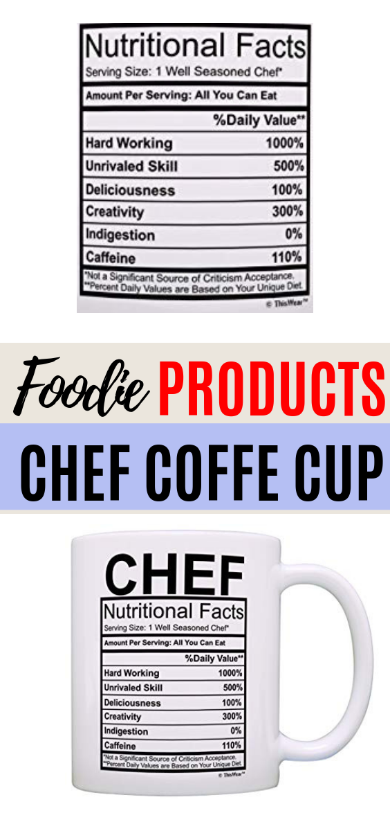 Chef Gifts Chef Nutritional Facts Label Gag Gift Gift