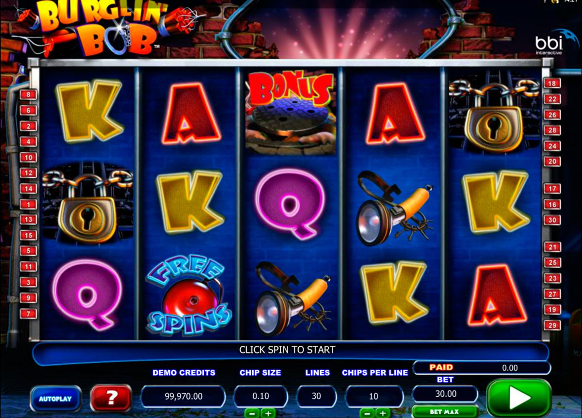 Play Burglin' Bob slot game by Microgaming at Casino