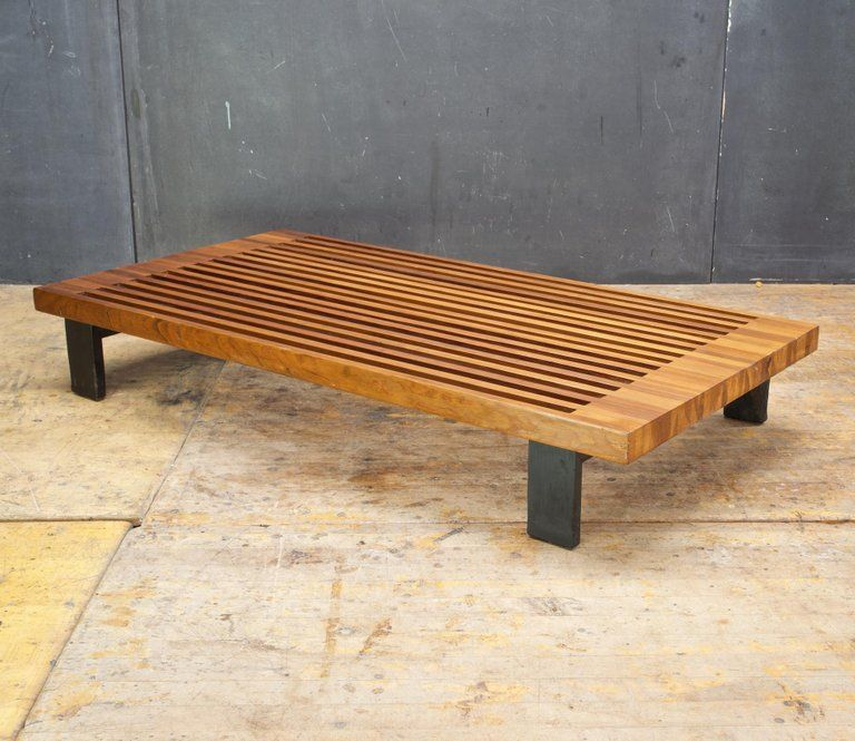 Vintage Japanese Window Style Low Platform Slat Bench Daybed Plant Stand Nelson Modern Wood Bench Window Styles Wooden Plant Stands