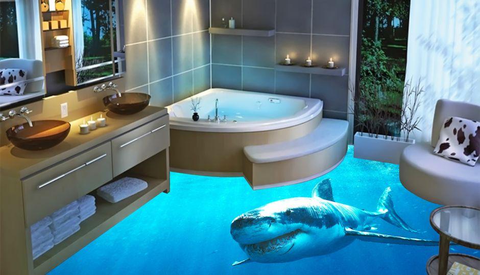 Luxxfloor Galerie Bodenbelag Fur Badezimmer Badezimmerboden Badezimmer 3d Boden