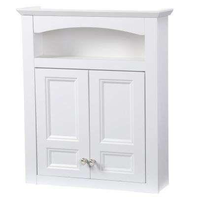 Modular 24 3 5 In W X 29 In H X 6 9 10 In D Bathroom Storage Wall Cabinet In White Bathroom Storage Cabinet Modular Bathrooms Bathroom Wall Cabinets
