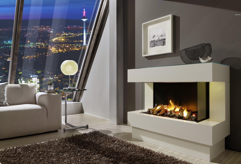 4 EL Elektrischer Kamin Mit Opti Myst Feuer Und Zuschaltbarer Heizung    Verschiedene Maße Möglich   Virtual