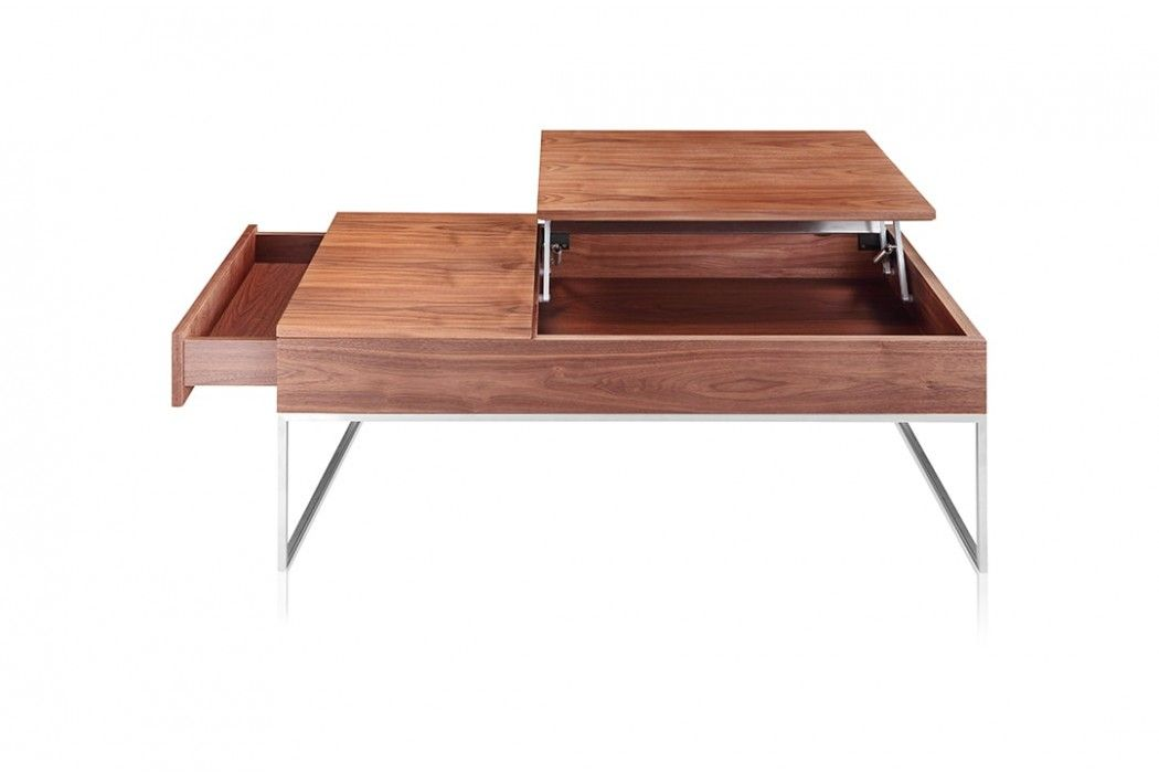 Nice Lubeck Contemporary Coffee Table Walnut Furniture