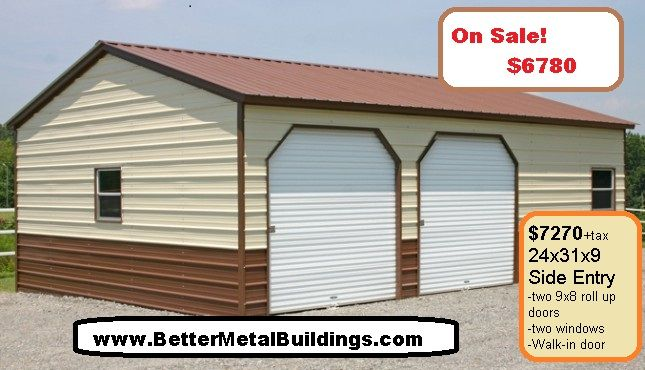 Pin By Better Metal Buildings On Metal Buildings For Sale Metal Garages Metal Building Prices Prefab Metal Buildings