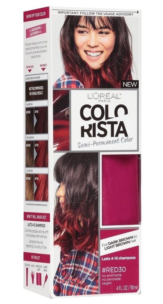 L Oreal Paris Colorista Semi Permanent For Brunette Hair Red30