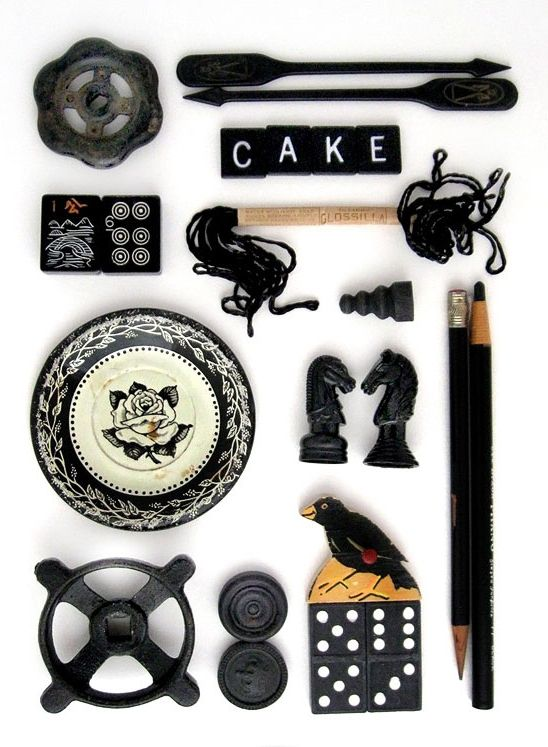 Black and White Vintage Objects ~ Sushi Pot Parts.
