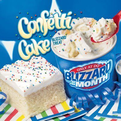 Astonishing Dairy Queen Confetti Cake Blizzard Food Savoury Food Funny Birthday Cards Online Alyptdamsfinfo