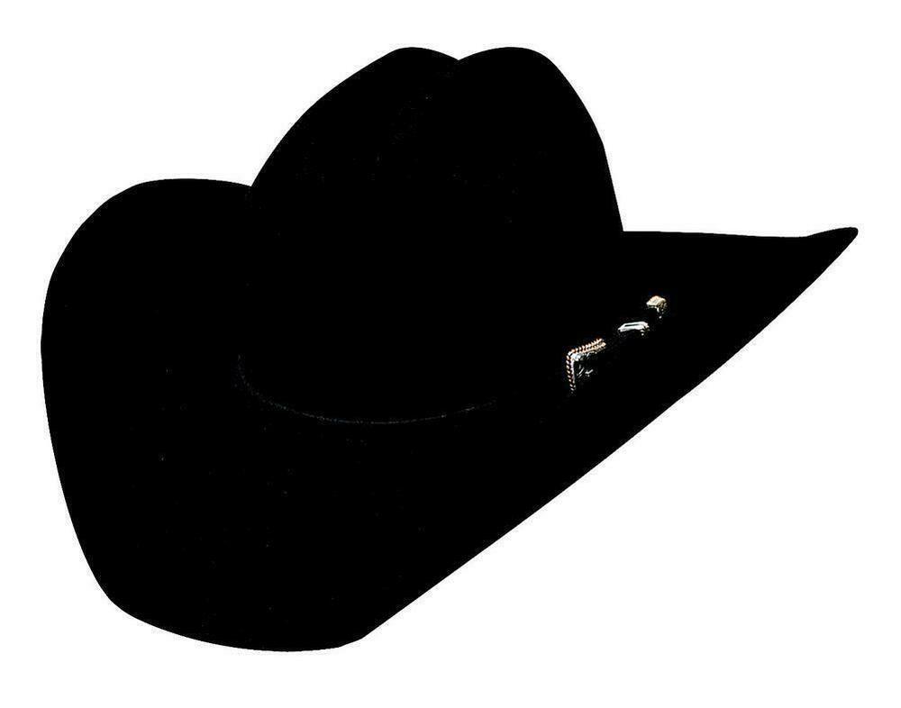 NEW Bullhide Hats 0327Bl Cowboy Collection Wagoneer Black Cowboy Hat