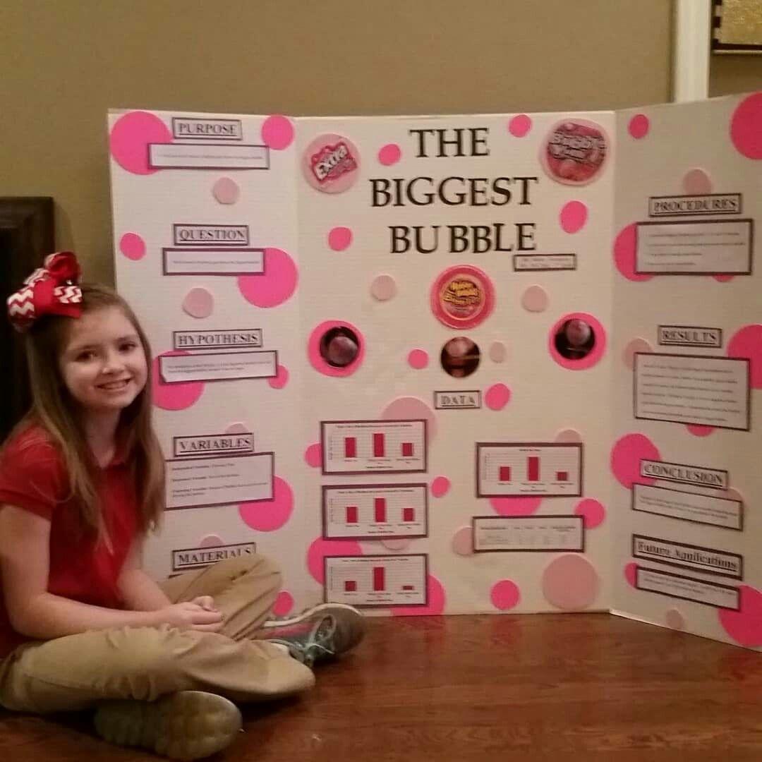 The Biggest Bubble Bubble Gum Science Fair Project 3rd Grade