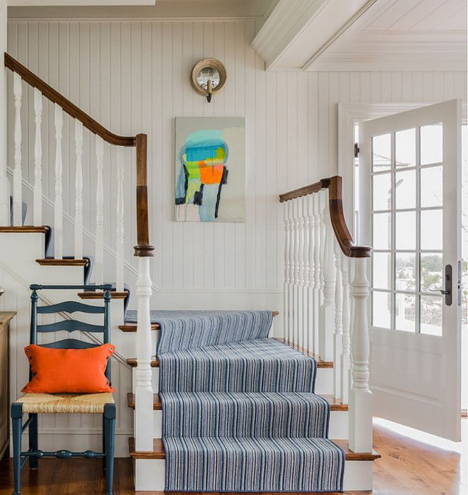 Replacing Carpet With A Stair Runner: Wool Stair Runner. Wool Stair Runner Ideas. The 100% Wool