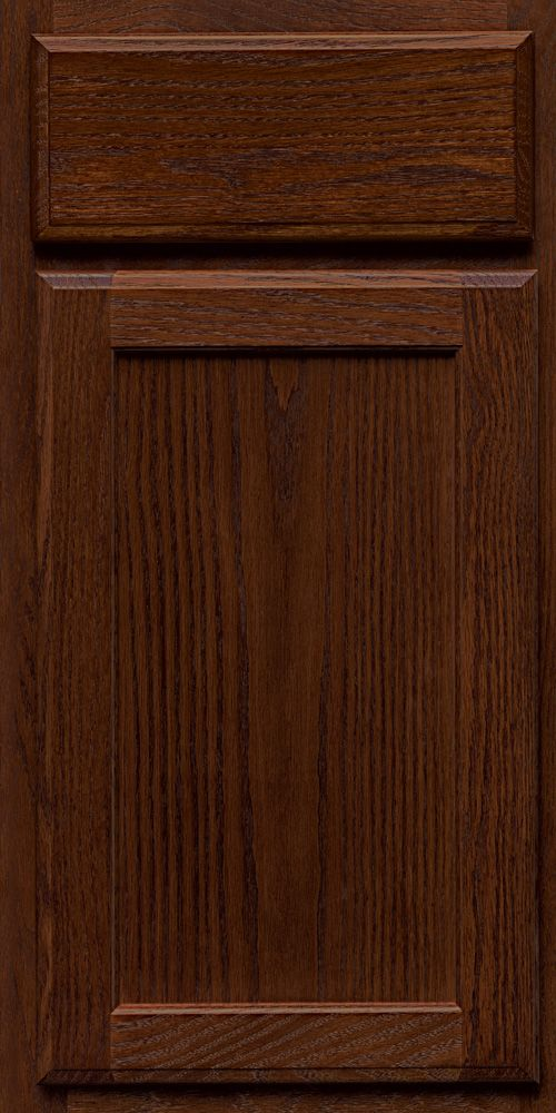 Merillat Classic Spring Valley cabinet door in Pecan stain on Oak ...