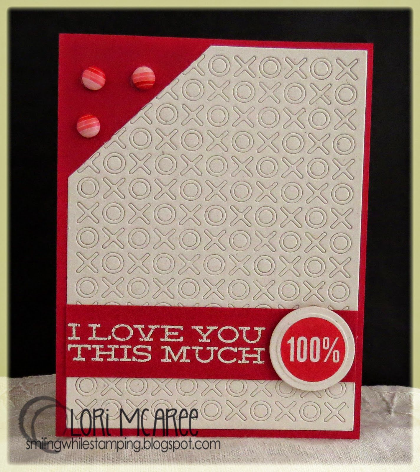 Smiling while Stamping: 100% handmade love/anniversary card made using My Favorite Things Document It-Off the Chart stamp set and Hugs & Kisses Cover-Up