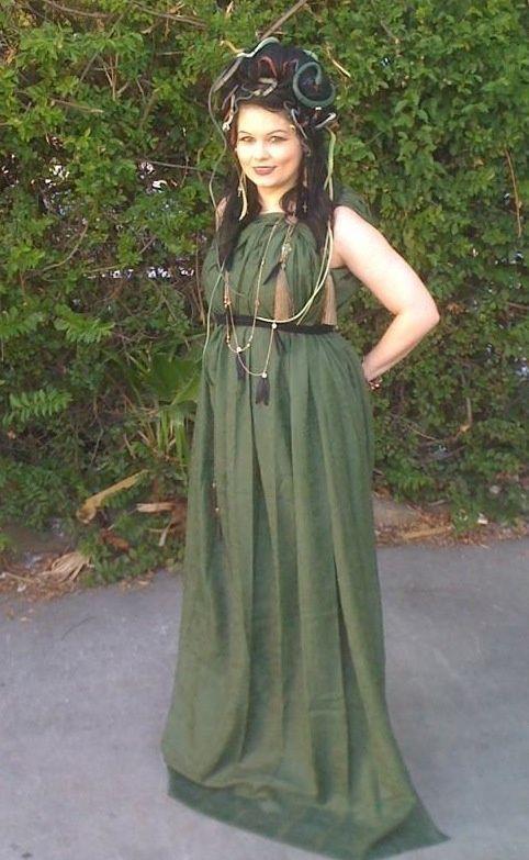 diy costume green dress Medusa Costumes Medusa Costume Ideas - green dress halloween costume ideas