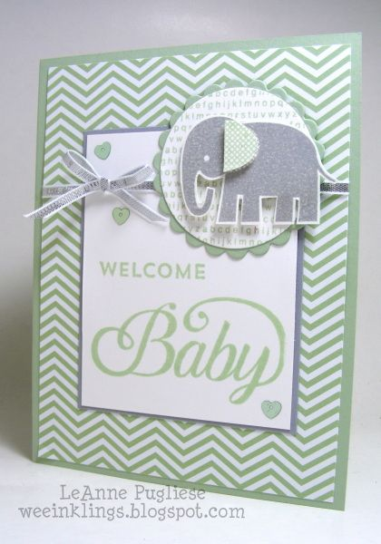 LeAnne Pugliese WeeInklings Celebrate Baby Zoo Babies Stampin Up