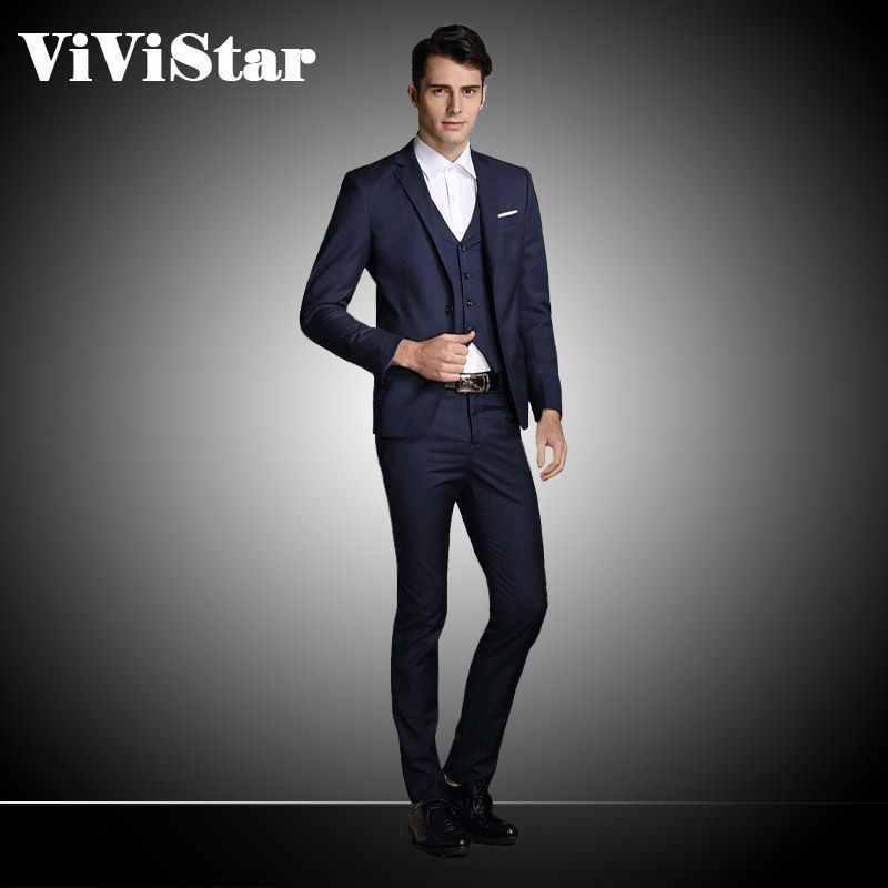Jacket Pant Vest) Single Breasted Men Suits 2015 New Arrival ...