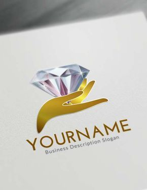 Hands Diamond Logo Creator Free Logo Maker Things To Wear