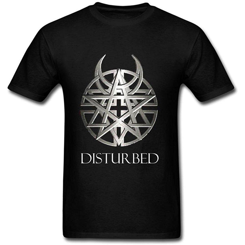 Cntjc Men S Disturbed Band Logo T Shirt Tmen 10348 17 90 Band Logos Tshirt Logo Shirts