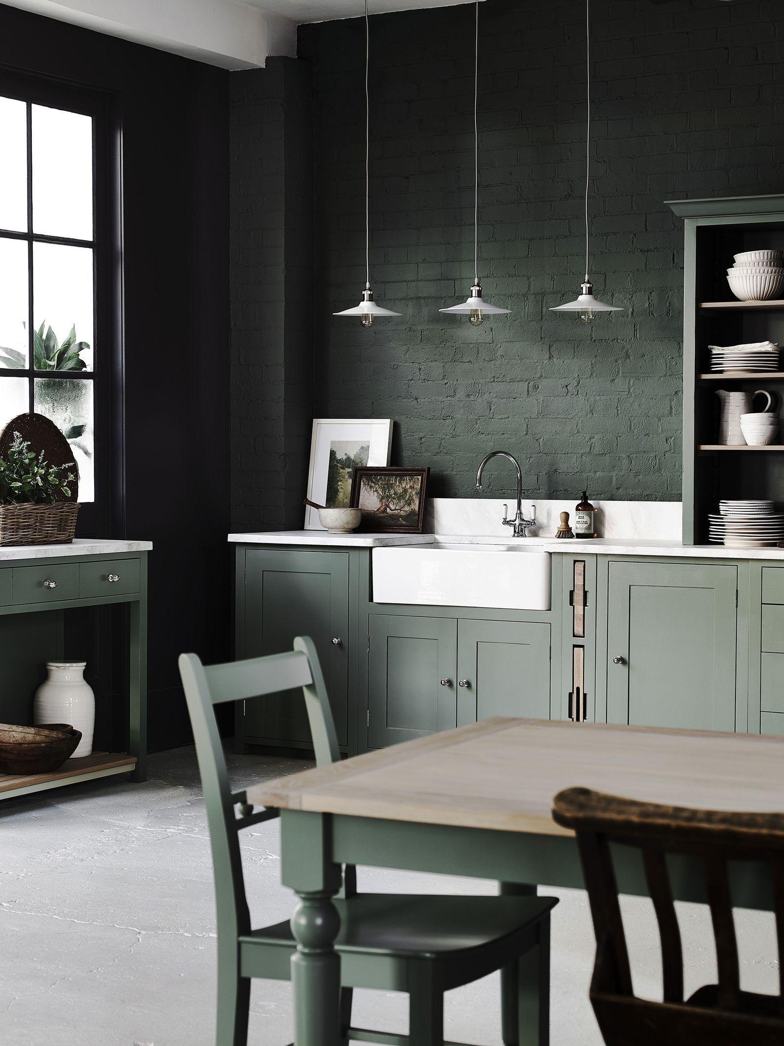 9 stunning dark kitchen ideas   Dark green kitchen, Dark kitchen ...