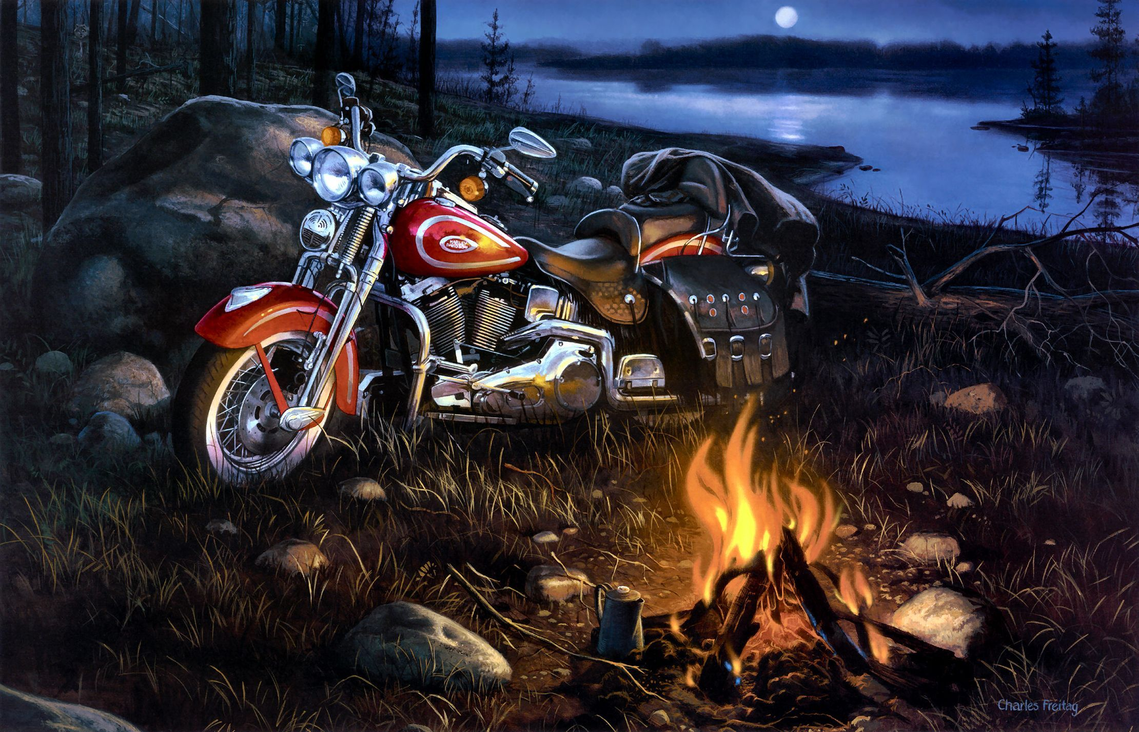 Desktop Harley Davidson Bike Images Wallpaper Download 3d Hd Fondo De Pantalla De Harley Davidson Cruces Pintadas Regalos Harley Davidson