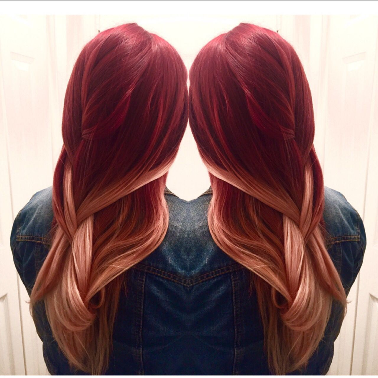 red to blonde balayage ombr hair in thousand colors. Black Bedroom Furniture Sets. Home Design Ideas