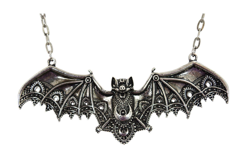 Alchemy England Gothic Large Villa Diodati Bat Necklace Pewter Dracula Metal