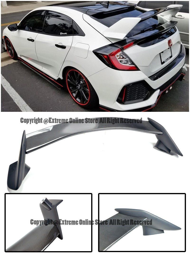 type r style carbon fiber rear trunk lip wing spoiler for 16 up rh pinterest com