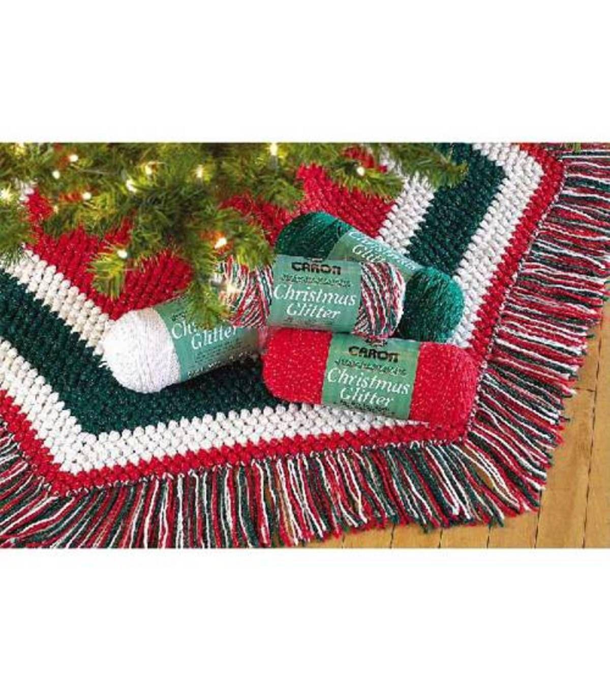 Easy Crochet Christmas Tree Skirt: Skirting The Christmas Tree Crochet A Christmas Tree Skirt