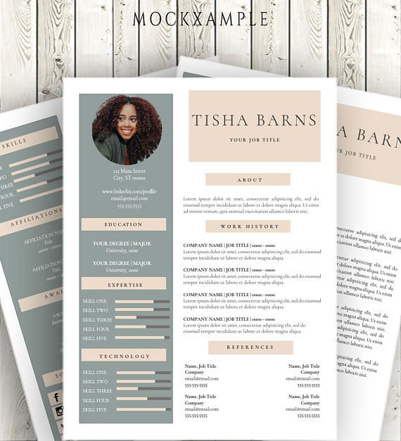 Resume Template And Cover Letter For Word Digital Download