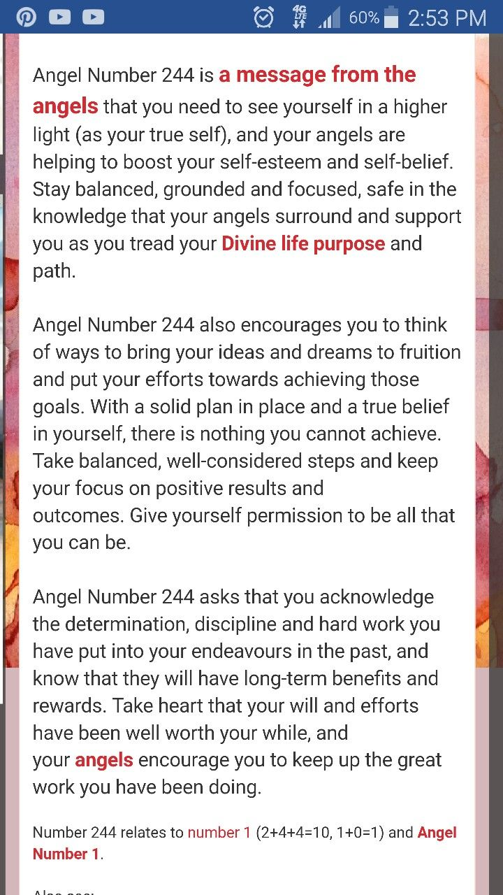 244 angel numbers | I'm all about my Spirituality | Angel