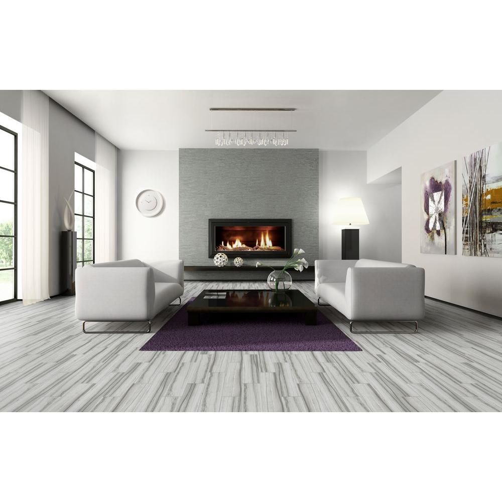 Marazzi vitaelegante grigio 6 in x 24 in porcelain floor and marazzi vitaelegante grigio 6 in x 24 in porcelain floor and wall tile dailygadgetfo Gallery