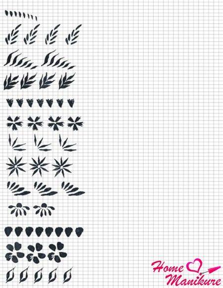 Карта для росписи ногтей