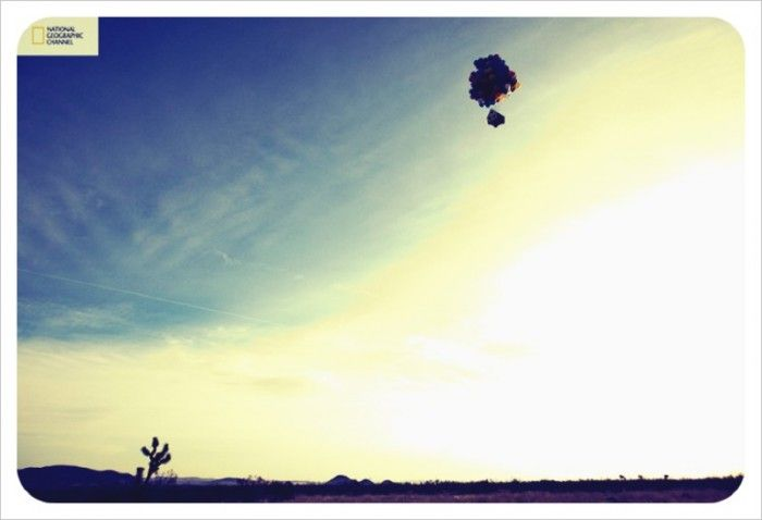 up – inspired balloon launch