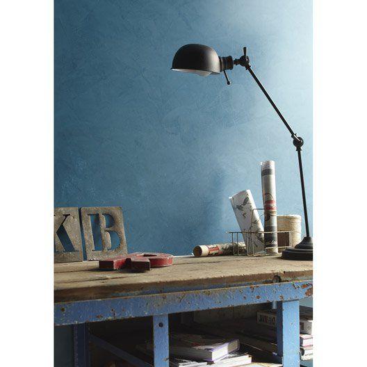 Peinture Décorative, Loft Béton Ciré Les Decoratives, Bleu Oxyde