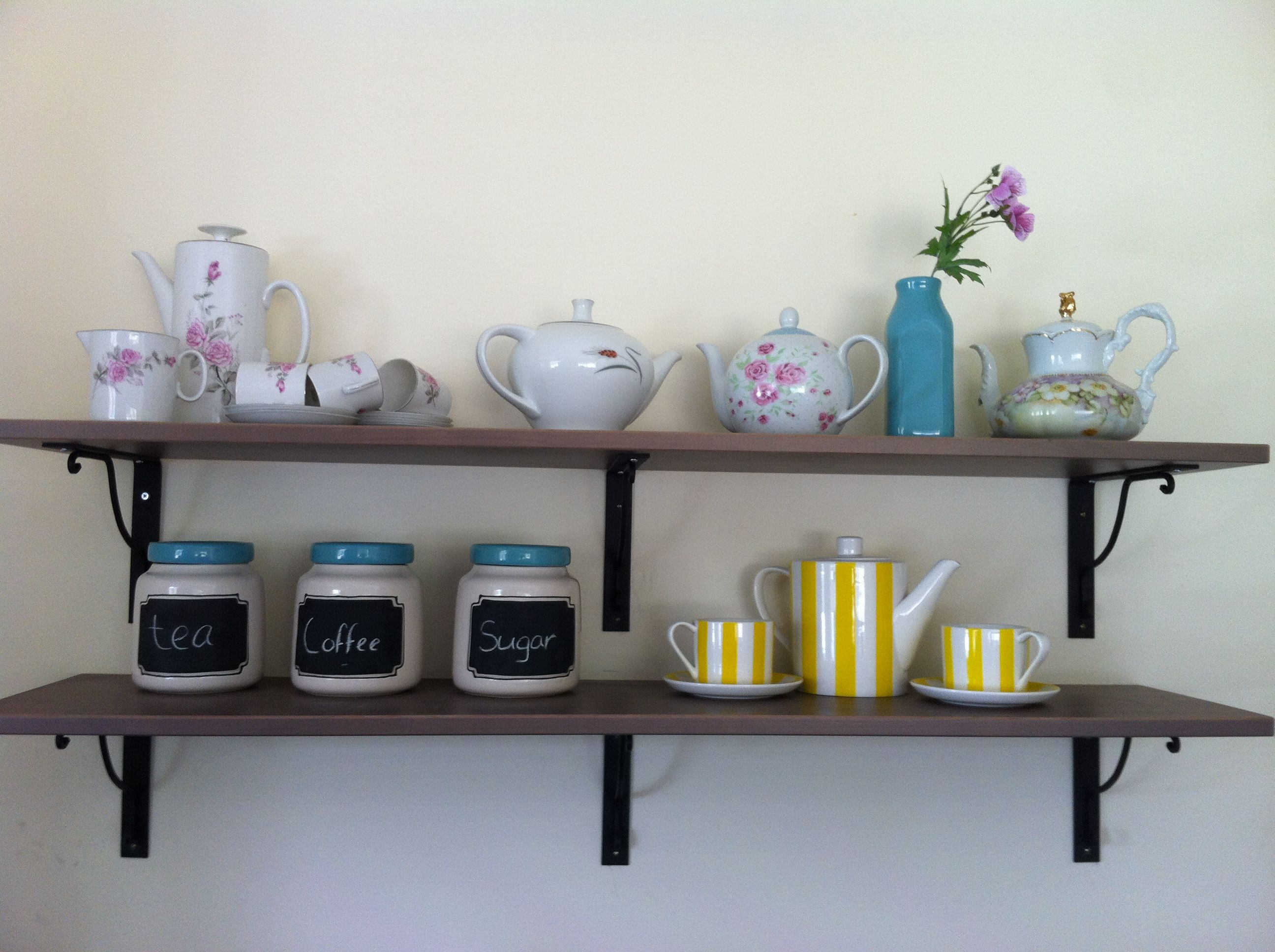 My tea and coffee station kitchen wall | Kitchen wall inspiration ...
